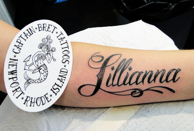 Fancy Calligraphy Lettering Name Tattoos