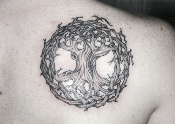 Knurly Tree of Life Tattoo by Captain Bret c1981