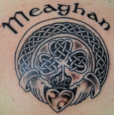 Shamrock and Claddagh Tattoo
