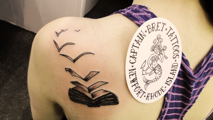 Traditional Tattooing pictures and images page. Tattoo photography ... Tattoos Of Books