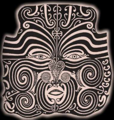 Maori Facial Tattoo Design