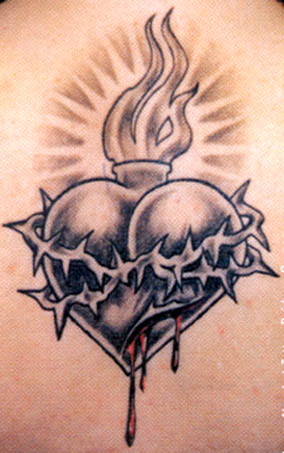 flaming heart tattoo meaning